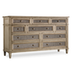 Hooker Furniture Sanctuary 10-Drawer Dresser in Pearl Essence 3023-90002