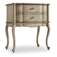 Hooker Furniture Sanctuary 2-Drawer Leg Nightstand in Pearl Essence 3023-90116