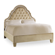 Hooker Furniture Sanctuary King Tufted Bed in Pearl Essence 3023-90866