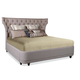 A.R.T. Classic King Upholstered Platform Bed in Brindle