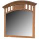 American Woodcrafters Bradford Landscape Mirror in Rich Cherry 82000-040