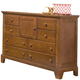 American Woodcrafters Bradford Double Dresser in Rich Cherry 82000-281