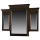 American Woodcrafters Grandeur Tri View Mirror in Rich Brown Cherry 5200-033