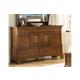 American Woodcrafters Nantucket Triple Dresser in Honey Brown 1900-272