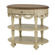 American Drew Jessica McClintock Boutique Oval Tiered Accent Table in White Veil 217-917W