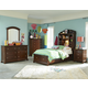 Legacy Classic Kids Impressions Bookcase Bedroom Set with Storage Footboard in Cherry