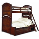 Legacy Classic Kids Impressions Bunk with Underbed Storage Unit Bedroom Set in Cherry