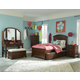 Legacy Classic Kids Impressions Panel Bedroom Set with Trundle/Storage Unit in Cherry
