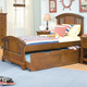 American Woodcrafters Bradford Twin Panel Bed with Trundle Unit in Rich Cherry 82000-33TRNDL