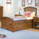 American Woodcrafters Bradford Twin Panel Bed with Underbed Storage in Rich Cherry 82000-33STRG