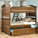 American Woodcrafters Bradford Full Bunk Bed with Trundle Unit in Rich Cherry 82000-46TDL