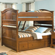 American Woodcrafters Bradford Twin Bunk Bed with Underbed Storage in Rich Cherry 82000-33STRG