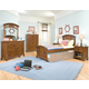 American Woodcrafters Bradford Panel Bedroom Set in Rich Cherry