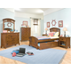 American Woodcrafters Bradford Panel Bedroom Set with Trundle Unit in Rich Cherry
