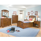 American Woodcrafters Bradford Panel Bedroom Set with Underbed Storage in Rich Cherry