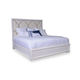 A.R.T. Cosmopolitan King Upholstered Panel Bed in Parchment