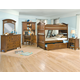 American Woodcrafters Bradford Bunk Bedroom Set with Trundle Unit in Rich Cherry