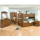 American Woodcrafters Bradford Bunk Bedroom Set with Underbed Storage in Rich Cherry