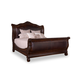 A.R.T. Valencia California King Upholstered Sleigh Bed in Port