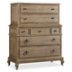 Hooker Furniture Corsica Chest on Chest in Light Natural 5180-90110
