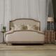 Hooker Furniture Corsica Upholstered Shelter Bedroom Set in Light Natural