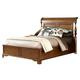 American Woodcrafters Nantucket Queen Sleigh Bed in Honey Brown 1900-50SLE