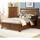 American Woodcrafters Nantucket King Sleigh Bed in Honey Brown 1900-66SLE