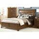 American Woodcrafters Nantucket King Sleigh Bed with Storage Footboard in Honey Brown 1900-66SLES