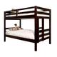 American Woodcrafters Essentials Twin Bunk Bed in Merlot 910-33BNK