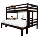 American Woodcrafters Essentials Twin over Full Bunk Bed in Merlot 910-3346BNK