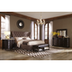 A.R.T. Classic 4pc Upholstered Platform Bedroom Set in Brindle