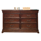 American Woodcrafters Signature Triple Dresser in Rich Dark Brown 8000-280