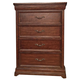 American Woodcrafters Signature Five Drawer Chest in Rich Dark Brown 8000-150
