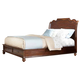 American Woodcrafters Signature Queen Sleigh Bed with Storage in Rich Dark Brown 8000-50STG