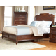 American Woodcrafters Signature King Sleigh Bed with Storage in Rich Dark Brown 8000-66STG PROMO