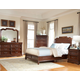 American Woodcrafters Signature Sleigh Bedroom Set with Storage in Rich Dark Brown