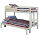American Woodcrafters Transformers Twin over Full Bunk Bed in White 900