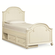 Legacy Classic Kids Charlotte Twin Arched Panel Bed with Underbed Storage in Antique White 3850-4103K CLEARANCE PROMO