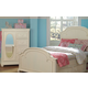 Legacy Classic Kids Charlotte Full Arched Panel Bed with Underbed Storage in Antique White 3850-4104K