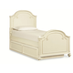 Legacy Classic Kids Charlotte Twin Arched Panel Bed with Trundle Unit in Antique White 3850-4103K
