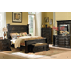 A.R.T. Marbella Noir 4pc Panel Bedroom Set in Ebony