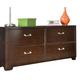 American Woodcrafters Smart Solutions Double Dresser in Merlot 5320-240