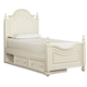 Legacy Classic Kids Charlotte Twin Low Poster Bed with Underbed Storage Unit in Antique White 3850-4203K