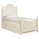 Legacy Classic Kids Charlotte Twin Low Poster Bed with Trundle Unit in Antique White 3850-4203K