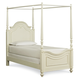 Legacy Classic Kids Charlotte Twin Poster Canopy Bed in Antique White 3850-4433K