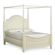 Legacy Classic Kids Charlotte Full Poster Canopy Bed in Antique White 3850-4434K PROMO