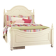 Legacy Classic Kids Charlotte Full Low Poster Bed with Underbed Storage Unit in Antique White 3850-4204K