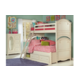 Legacy Classic Kids Charlotte Twin over Full Bunk Bed with Underbed Storage in Antique White 3850-8140K