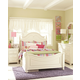 Legacy Classic Kids Charlotte Low Poster Bedroom Set with Underbed Storage in Antique White