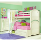 Legacy Classic Kids Charlotte Bunk Bedroom Set with Underbed Storage in Antique White
